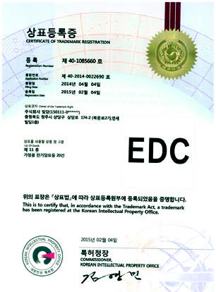 Trademark Registration Certificate No. 40-1085660